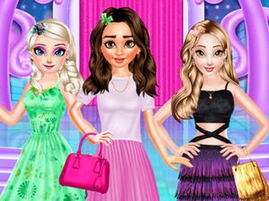 play Princesses Different Style Dress Fashion