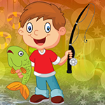 play Gleeful Fishing Boy Escape
