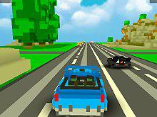 play Blocky Traffic Racing