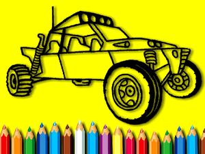 play Bts Rally Car Coloring Book