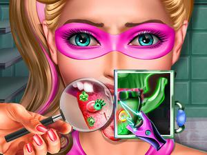 play Super Doll Tongue Doctor