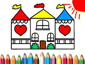 play Doll House Coloring Book
