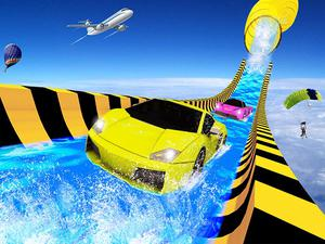 play Water Slide Car Racing Adventure 2020