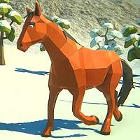 Winter Horse Simulator game