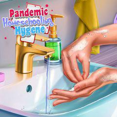 Pandemic Homeschooling Hygene game