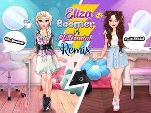 Eliza Boomer Vs Millennial Fashion Remix game