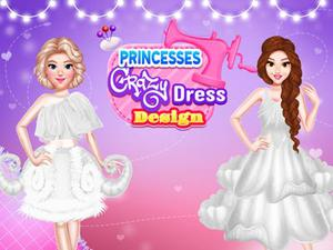 Princesses Crazy Dress Design game
