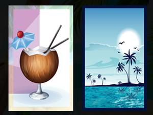 Beach Cocktails Memory game