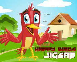 Happy Birds Jigsaw game
