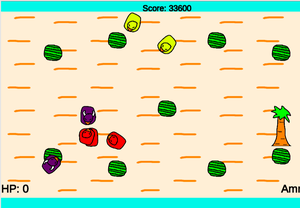 Twinstick Fruiter game