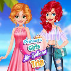 play Princess Girls Air Balloon Trip