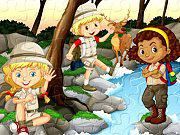 Camping Kids Jigsaw game