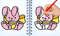 Coloring Bunny Book game