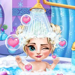 Ice Queen Baby Bath game