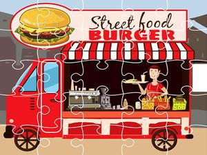 Burger Trucks Jigsaw game