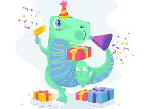 play Dino Party Jigsaw