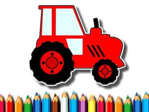 play Easy Kids Coloring Tractor