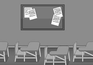 play Black And White Escape Classroom