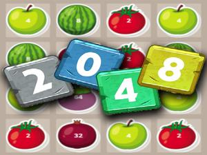 play 2048 Fruits