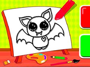 play Easy Kids Coloring Bat