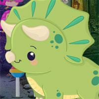 play G4K-Cartoon-Triceratops-Escape
