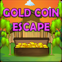 play G2J Wooden Box Gold Coin Escape