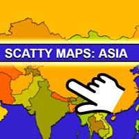 Scatty Maps Asia game