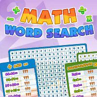 Math Word Search game