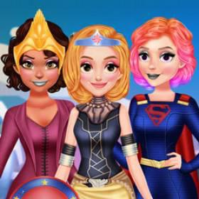 play Bffs Superhero Dress Up - Free Game At Playpink.Com