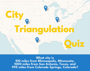 City Triangulation Quiz game