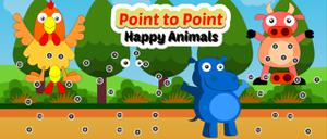 play Point To Point Happy Animals