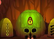 Brown Skull Forest Escape game