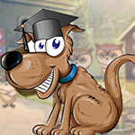 Happy Graduated Dog Escape game