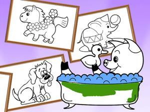 play Cartoon Coloring For Kids Animals