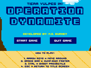 Tiera Vulpes In: Operation Dynamite game