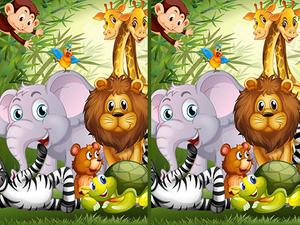 play Find Seven Differences Animals