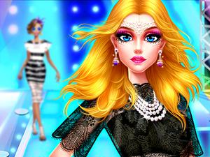 Supermodel Makeover Glam Dress Up Make Up game