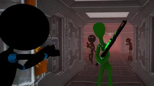 Stickman Armed Assassin: Cold Space game