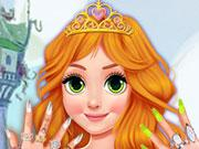 play Blonde Princess Jelly Nails Spa