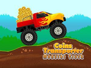 play Coins Transporter Monster Truck