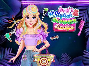 play Ava'S #Stylish Summer Hairstyles Challenge
