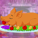 play Delighted Brown Pig Escape