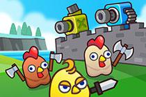 play Merge Cannon: Chicken Defense
